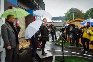 Miljøministeren holder tale. Foto: Lina Ahnoff.