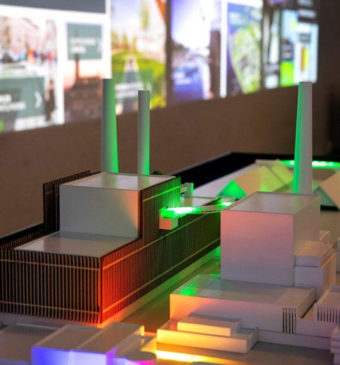 Model af Den Bæredygtige By med BIO4