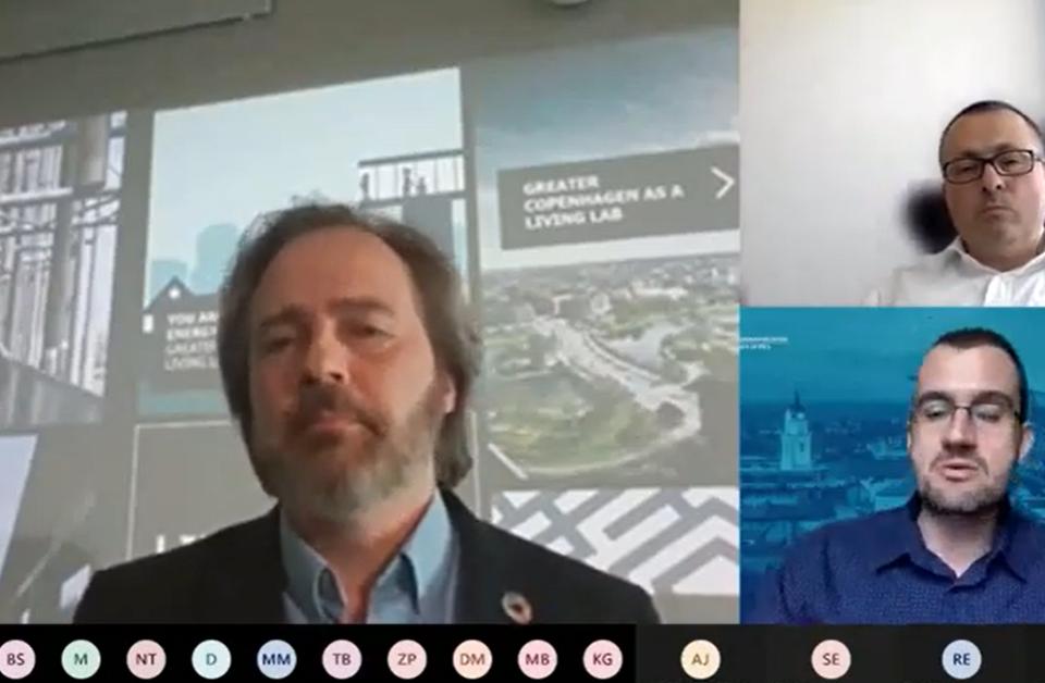 Screenshot fra Green AURA konference