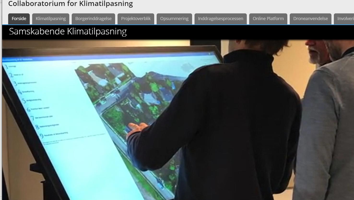 Udklip fra GIS-baseret samskabelsesplatform
